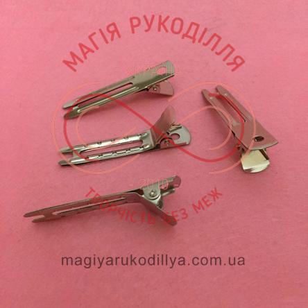 Основа для заколки-качечки 4,7см - сріблястий