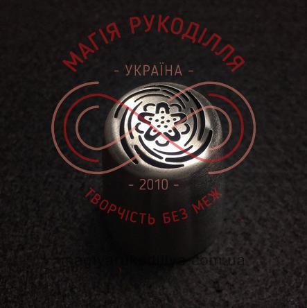 Кондитерський інструмент насадка нержавійка безшовна d23мм півонія