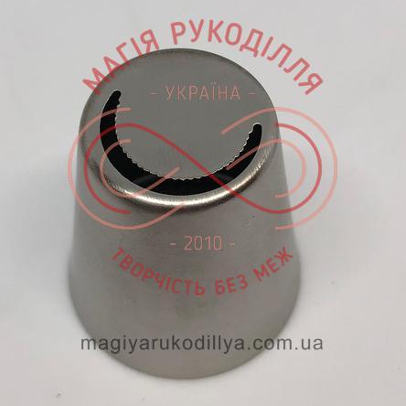 Кондитерський інструмент насадка нержавійка безшовна d18мм листочок