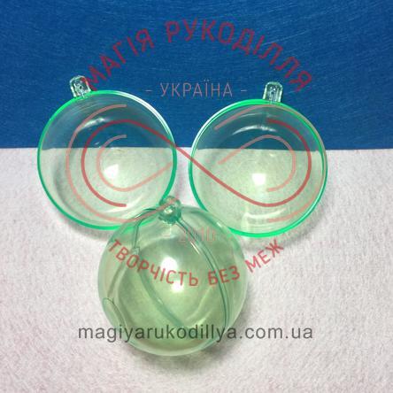 Фігура з пластику куля розбірна d8см - зелений
