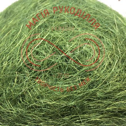 Сизаль довговолкнистий упаковка 100гр - відтінки зеленого
