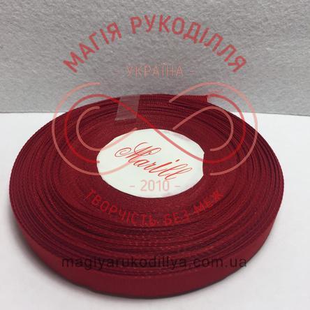 Стрічка репсова 9мм/23м - відтінки червоного
