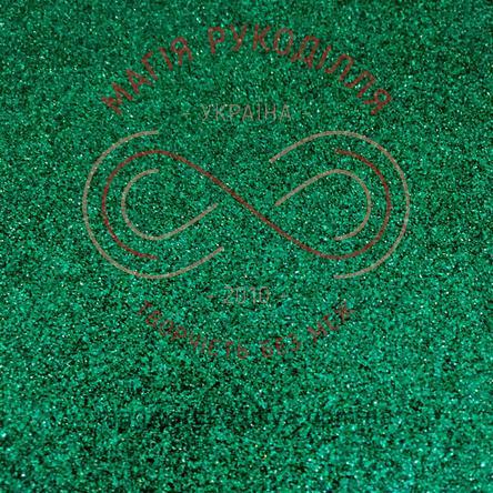 Фоаміран з гліттером 2мм 20,0см*30,0см - зелений