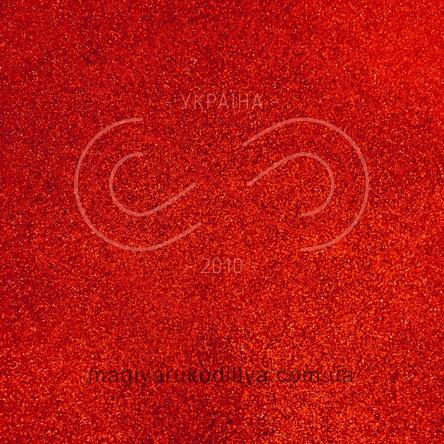 Фоаміран з гліттером 2мм 20,0см*30,0см - червоний