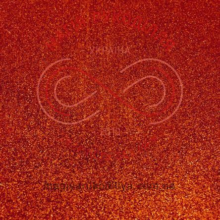 Фоаміран з гліттером 2мм 20,0см*30,0см - помаранчевий