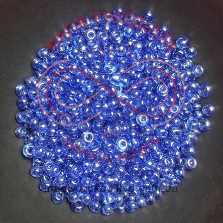 Бісер Китай 12/ваговий - №021 синій прозорий