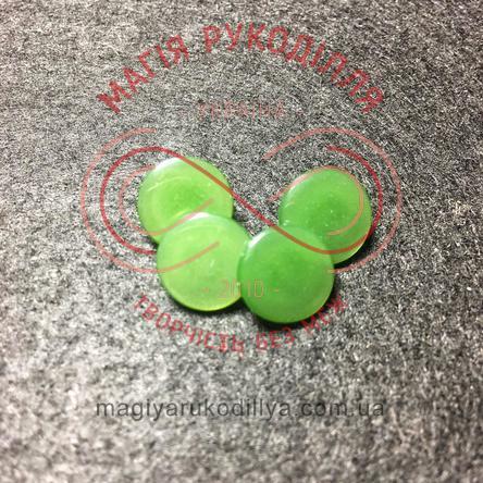 Гудзик сорочковий на ніжці d18L/11,6мм - зелений