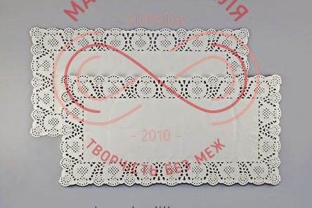 Кондитерська серветка мереживна прямокутна 30см*40см - білий