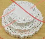 Кондитерська серветка мереживна кругла d27см - білий