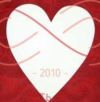 Кондитерська підложка серце 18см*21см - білий/білий