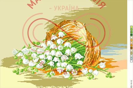 Схема на канві для вишивання хрестиком картина - А3-14-05