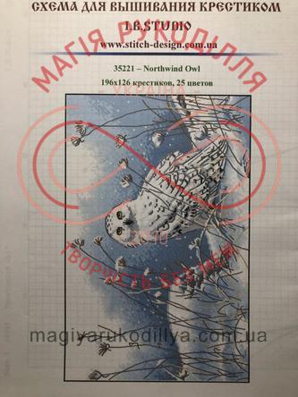 Cхема паперова для вишивання хрестиком - 35221 Northwind Owl