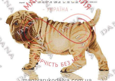 Схема для вишивання бісером картина габардин А3 - DANA-3213 Шарпей
