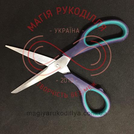 Ножиці кравецькі пластикова ручка довжина леза 7,5см, загальна довжина 19,5см, потовщене лезо - №7