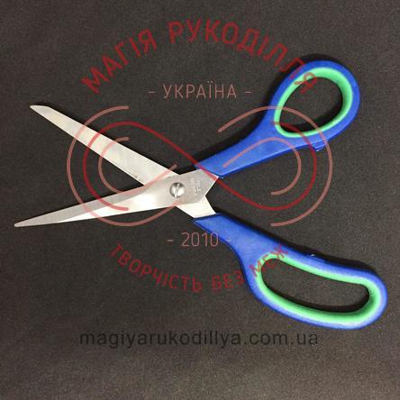 Ножиці кравецькі пластикова ручка довжина леза 8,5см, загальна довжина 21см - №8