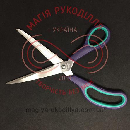Ножиці кравецькі пластикова ручка довжина леза 11см, загальна довжина 24,5см, потовщене лезо - №11