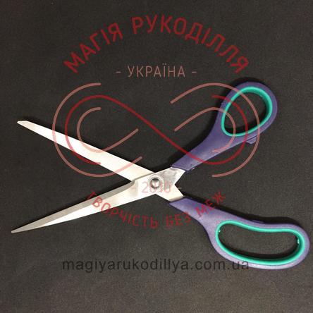 Ножиці кравецькі пластикова ручка довжина леза 11см, загальна довжина 24,5см - №11