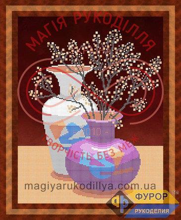 Схема для вишивання бісером картина - НБч3-35 Натюрморт із двох ваз