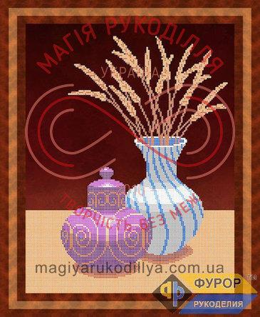 Схема для вишивання бісером картина - НБч3-36 Натюрморт із вази та графіна