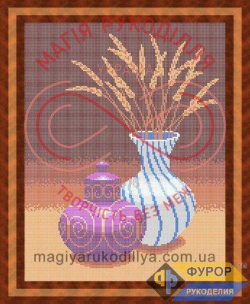Схема для вишивання бісером картина - НБп3-34 Натюрморт із вази та графіна