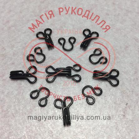 Гачок для одягу пришивний розмір №3 - чорний