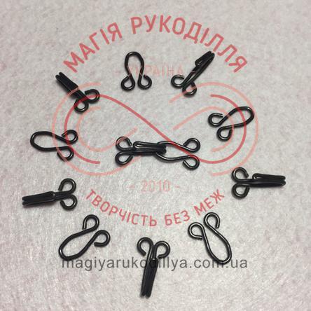 Гачок для одягу пришивний розмір №10 - чорний