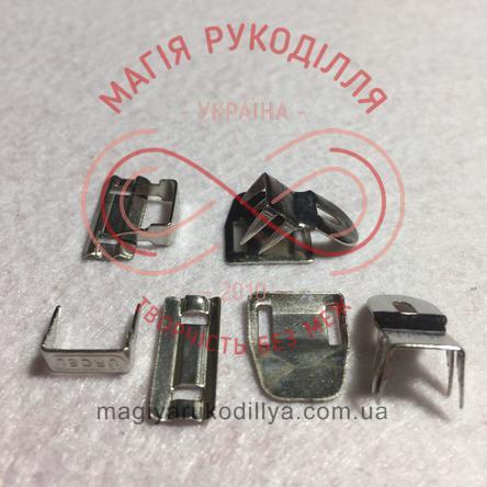 Гачок для брюк (4 складових) - сріблястий