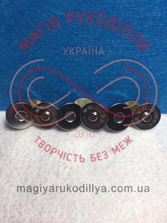 Магніт-кнопка для сумки d18мм (3 складових) - сріблястий
