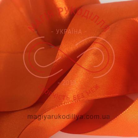 Стрічка атласна 50мм (Китай) - відтінки помаранчевого