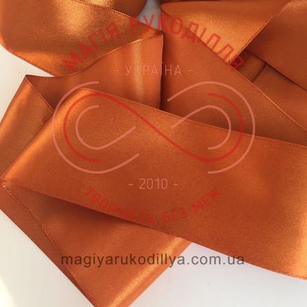 Стрічка атласна 50мм (Китай) - відтінки коричневого