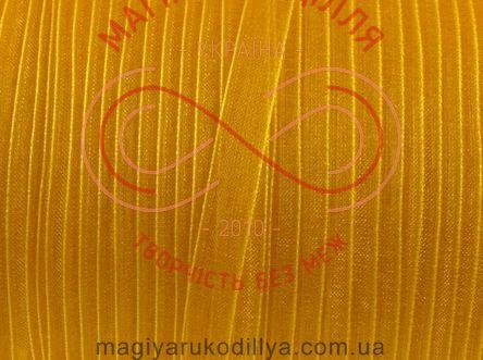 Стрічка органза 6мм (Китай) - жовтий