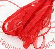 Стрічка органза 6мм (Китай) - червоний