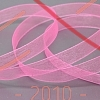 Стрічка органза 6мм (Китай) - рожевий