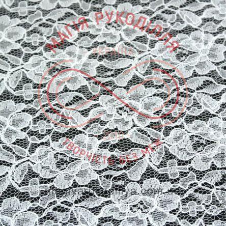 Кружево гипюр 23см * 25см - белый