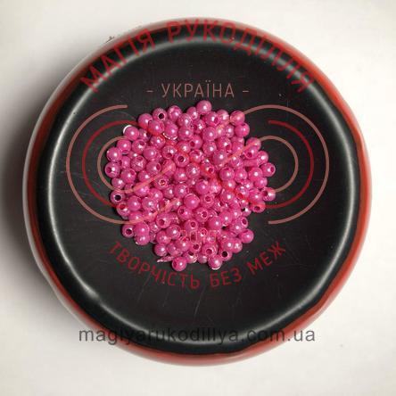 Намистинки вагові d3мм - рожевий перлистий