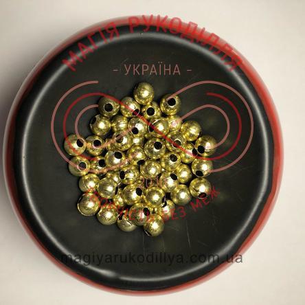 Намистинки вагові d6мм - золотистий металізований