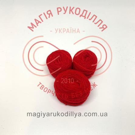 Нитка акрилова для вишивання - №123/008 відтінки червоного