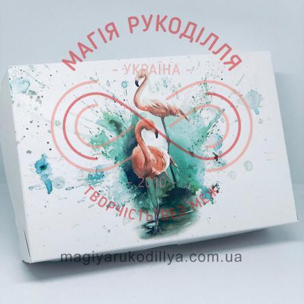 Кондитерська/подарункова коробка для пряника 225*150*60 - фламінго