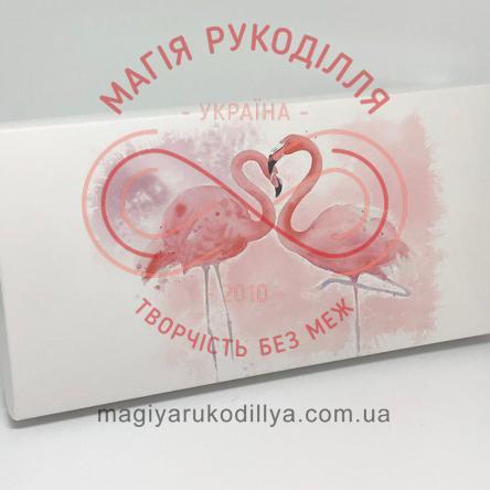 Кондитерська/подарункова коробка для пряника 300*150*60 - рожевий фламінго