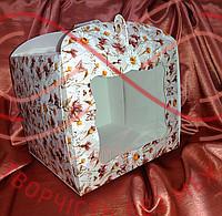 Кондитерська/подарункова коробка для торта 230*230*210 - ромашка