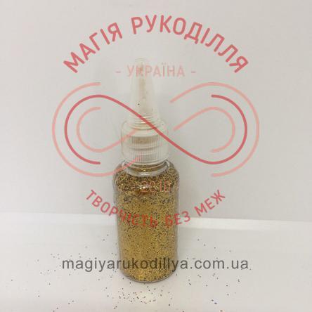 Гліттер (блискітки) сухий в баночці 25гр - золотистий