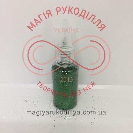 Гліттер (блискітки) сухий в баночці 25гр - зелений