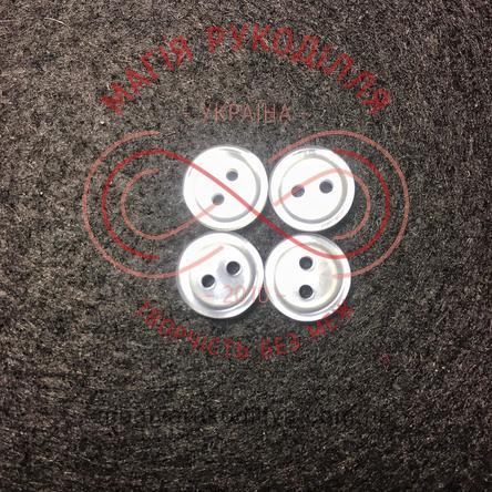 Гудзик сорочковий прошивний d16L/10мм - білий перлистий