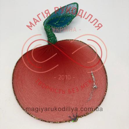 Прикраса для гардини яблуко (дріт+нейлон) - червоний