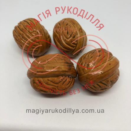 Горіх грецький h3,5см - коричневий