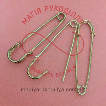 Основа для брожки булавка декоративна довжина 7см - сріблястий