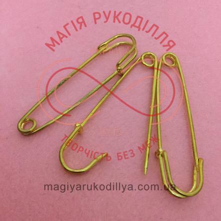 Основа для брожки булавка декоративна довжина 7см - золотистий