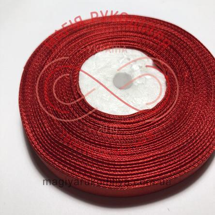 Стрічка атласна 12мм/32,9м (Китай) - відтінки червоного