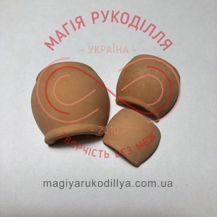 Гіпсоформа половинка глечика(різні розміри) - бежевий