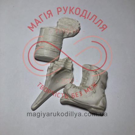 Гіпсоформа збірна черевик; банка; мушля